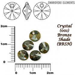 SWAROVSKI 6428 XILION BRONZE SHADE  6mm