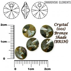 SWAROVSKI 6428 XILION BRONZE SHADE  8mm