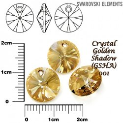 SWAROVSKI 6428 XILION GOLDEN SHADOW 12mm