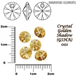 SWAROVSKI 6428 XILION GOLDEN SHADOW 6mm