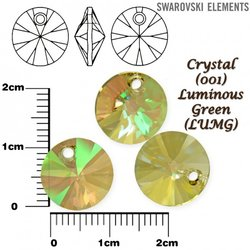 SWAROVSKI 6428 XILION LUMINOUS GREEN 12mm
