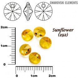 SWAROVSKI 6428 XILION SUNFLOWER  6mm