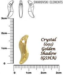 SWAROVSKI 6525 CRYSTAL GOLDEN SHADOW 19mm