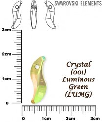 SWAROVSKI 6525 CRYSTAL LUMINOUS GREEN  19mm
