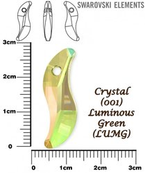 SWAROVSKI 6525 LUMINOUS GREEN 28mm
