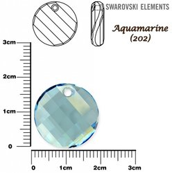 SWAROVSKI 6621 TWIST Pendant 18mm AQUAMARINE