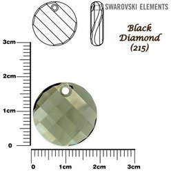 SWAROVSKI 6621 TWIST Pendant 18mm BLACK DIAMOND