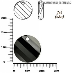 SWAROVSKI 6621 TWIST Pendant 18mm JET