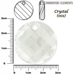 SWAROVSKI 6621 TWIST Pendant 28mm CRYSTAL