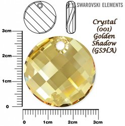 SWAROVSKI 6621 TWIST Pendant 28mm GOLDEN SHADOW