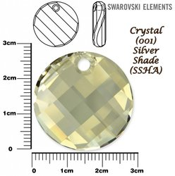 SWAROVSKI 6621 TWIST Pendant 28mm SILVER SHADE
