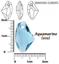 SWAROVSKI 6656 AQUAMARINE 19mm