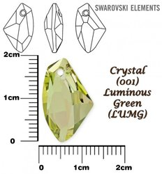 SWAROVSKI 6656 LUMINOUS GREEN 19mm
