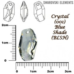 SWAROVSKI 6673 BLUE SHADE 18mm