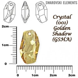 SWAROVSKI 6673 GOLDEN SHADOW 18mm