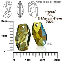 SWAROVSKI 6673 IRIDESCENT GREEN 18mm