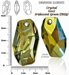 SWAROVSKI 6673 IRIDESCENT GREEN 38mm
