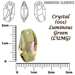 SWAROVSKI 6673 LUMINOUS GREEN 18mm