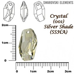 SWAROVSKI 6673 SILVER SHADE 18mm