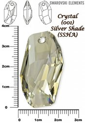 SWAROVSKI 6673 SILVER SHADE 38mm