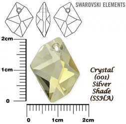 SWAROVSKI 6680 CRYSTAL SILVER SHADE 20mm