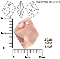 SWAROVSKI 6680 LIGHT ROSE  20mm