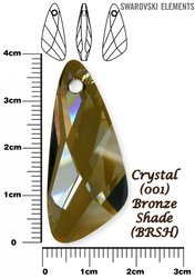 SWAROVSKI 6690 CRYSTAL BRONZE  SHADE 39mm