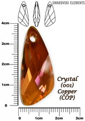 SWAROVSKI 6690 CRYSTAL COPPER 39mm