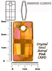 SWAROVSKI 6696 CRYSTAL ASTRAL PINK 30mm