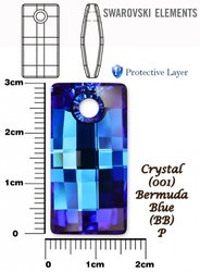 SWAROVSKI 6696 CRYSTAL BERMUDA BLUE 30mm