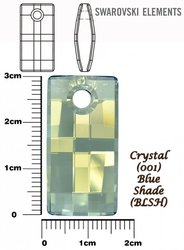 SWAROVSKI 6696 CRYSTAL BLUE SHADE 30mm