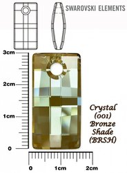 SWAROVSKI 6696 CRYSTAL BRONZE SHADE 30mm
