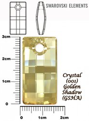 SWAROVSKI 6696 CRYSTAL GOLDEN SHADOW 30mm