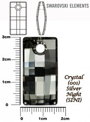 SWAROVSKI 6696 CRYSTAL SILVER NIGHT 30mm
