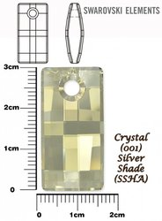 SWAROVSKI 6696 CRYSTAL SILVER SHADE 30mm