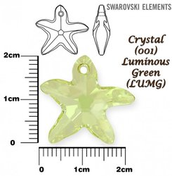 SWAROVSKI 6721 CRYSTAL LUMINOUS GREEN 20mm