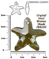 SWAROVSKI 6721 LIight CRYSTAL BRONZE SHADE  28mm