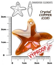 SWAROVSKI 6721 LIight CRYSTAL COPPER  28mm