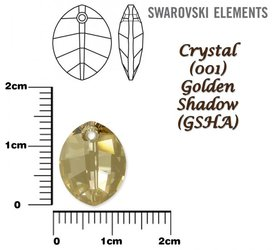 SWAROVSKI 6734 GOLDEN SHADOW 14mm