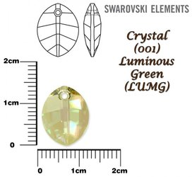 SWAROVSKI 6734 LUMINOUS GREEN 14mm