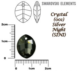 SWAROVSKI 6734 SILVER NIGHT 14mm