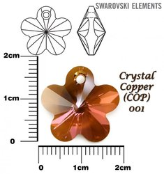 SWAROVSKI 6744 CRYSTAL COPPER 18mm