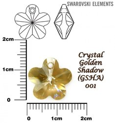 SWAROVSKI 6744 CRYSTAL GOLDEN SHADOW 14mm