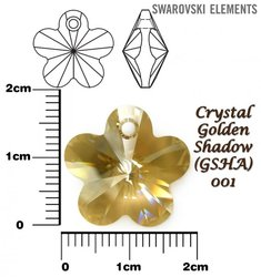 SWAROVSKI 6744 CRYSTAL GOLDEN SHADOW 18mm
