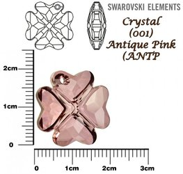 SWAROVSKI 6764 CRYSTAL ANTIQUE PINK 19mm