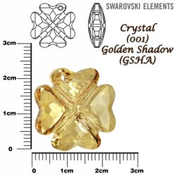 SWAROVSKI 6764 CRYSTAL GOLDEN SHADOW 23mm