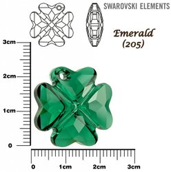 SWAROVSKI 6764 EMERALD 23mm