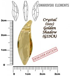 SWAROVSKI 6904 GOLDEN SHADOW  30mm
