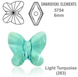 SWAROVSKI Butterfly Bead 5754 LIGHT TURQUOISE 6mm