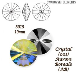 SWAROVSKI Buttons 3015 CRYSTAL AURORE BOREALE 10mm